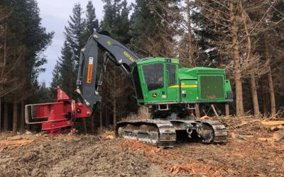 New fixed head felling machine